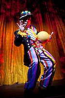 The Clown Act routine during the BAI XI Chinese Circus opening at The New Victory Theater in New York. ...Photo by Robert Caplin.