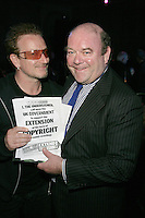 """Bono and Paul McGuinness, awarded the Robertson Taylor """"Peter Grant"""" Award for outstanding achievement and trailblazing career)"""