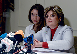 New alleged victim of Harvey Weinstein Mimi Haleyi and Attorney Gloria Allred speak during a press conference at The Lotte New York Palace on October 24, 2017 in New York City NY, USA. Photo by Dennis Van Tine/ABACAPRESS.COM