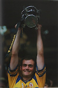 Anthony Daly raises the McCarthy Cup in 1995.