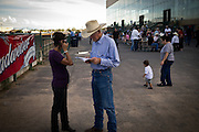 Horse races provide for sport, entertinment and betting during the New Mexico State Fair, Albuquerque, New Mexico.