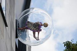 © licensed to London News Pictures. London, UK 19/06/2012. Globe Head Ballerina sculpture, artist Yinka Shonibare's latest work has been revealed today by the Royal Opera House today, in Covent Garden, London. The sculpture is also part of the London 2012 Festival. Photo credit: Tolga Akmen/LNP