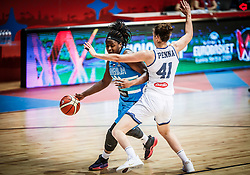 Shante Evans of Slovenia vs Elisa Penna of Italy during basketball match between Women National teams of Italy and Slovenia in Group phase of Women's Eurobasket 2019, on June 30, 2019 in Sports Center Cair, Nis, Serbia. Photo by Vid Ponikvar / Sportida