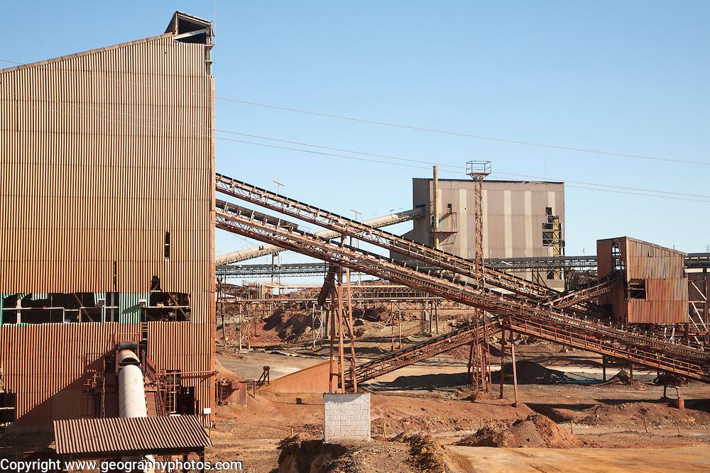Heavy industry opencast mining Minas de Riotinto mining area, Huelva province, Spain