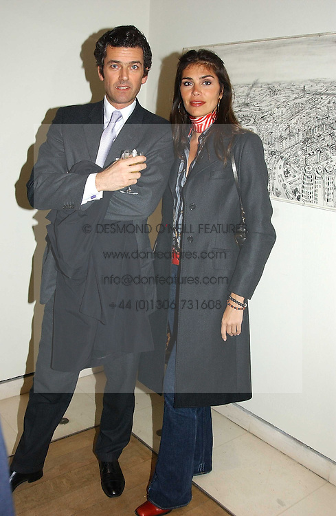 MICHEL BERGER-SANDHOFER and JUDITH HESS at an exhibition of art entitled 'Royal Academicians in China: 2003-2005' held at the Royal Academy of Arts, Burlington House, Piccadilly, London on 11th January 2005.<br />