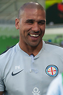 MELBOURNE, VICTORIA - JANUARY 06: Melbourne City assistant coach Patrick Kisnorbo smiles on at the Hyundai A-League Round 11 soccer match between Melbourne City FC and Newcastle Jets on at AAMI Park in NSW, Australia 06 January 2019. (Photo by Speed Media/Icon Sportswire)