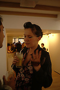 Laura K. Jones, Rachel Kneebone private view. Madder Rose. Whitecross St. London EC1 22 June 2006. -DO NOT ARCHIVE-© Copyright Photograph by Dafydd Jones 66 Stockwell Park Rd. London SW9 0DA Tel 020 7733 0108 www.dafjones.com