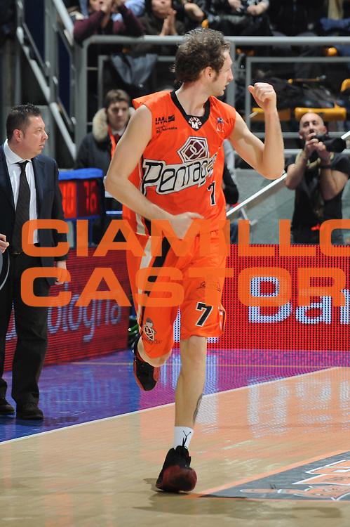 DESCRIZIONE : Bologna LNP Lega Nazionale Pallacanestro Serie A Dilettanti 2009-10 PentaGruppo Ozzano Amori Fortitudo Bologna<br /> GIOCATORE : Riccardo Perego<br /> SQUADRA : PentaGruppo Ozzano<br /> EVENTO : Lega Nazionale Pallacanestro 2009-2010 <br /> GARA : PentaGruppo Ozzano Amori Fortitudo Bologna<br /> DATA : 20/02/2010<br /> CATEGORIA : esultanza<br /> SPORT : Pallacanestro <br /> AUTORE : Agenzia Ciamillo-Castoria/M.Marchi<br /> Galleria : Lega Nazionale Pallacanestro 2009-2010 <br /> Fotonotizia : Bologna LNP Lega Nazionale Pallacanestro Serie A Dilettanti 2009-10 PentaGruppo Ozzano Amori Fortitudo Bologna<br /> Predefinita :
