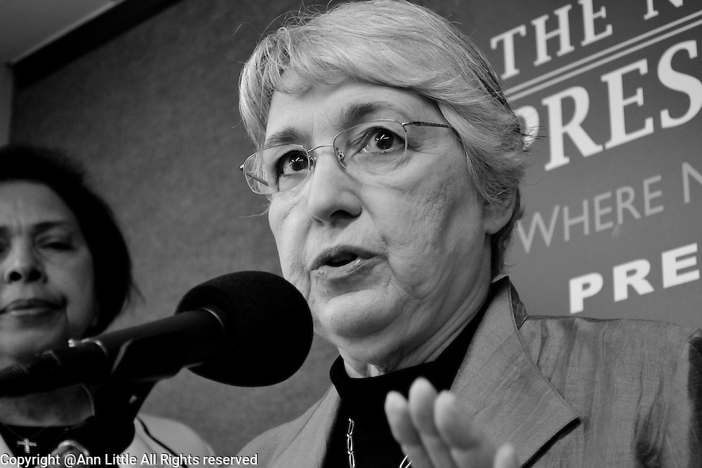 Ellie Smeal, president of The Feminist Majority speaks at Stop War on Women news conference  7/11.2012