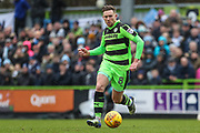Forest Green Rovers Dayle Grubb(8) passes the ball forward during the EFL Sky Bet League 2 match between Forest Green Rovers and Coventry City at the New Lawn, Forest Green, United Kingdom on 3 February 2018. Picture by Shane Healey.