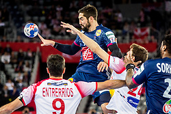 Nikola Karabatic of France during handball match between National teams of France and Spain in Half Final match of Men's EHF EURO 2018, on January 26, 2018 in Arena Zagreb, Zagreb, Croatia. Photo by Ziga Zupan / Sportida