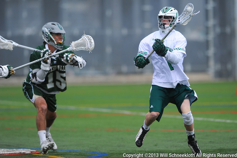 Manhattan College Jaspers men's lacrosse vs. Jacksonville University Dolphins on March 23, 2013 at Gaelic Field in New York, N.Y..