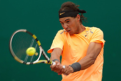 18.04.2012 Country Club, Monte Carlo, MON, ATP World Tour, Rolex Masters, 2. Runde, im Bild Rafael Nadal (ESP) in action during the second round match between Rafael Nadal (ESP) and Jarkko Nieminen (FIN) // at the Rolex Masters tennis tournament second Round of ATP World Tour at Country Club, Monte Carlo, Monaco on 2012/04/17. EXPA Pictures © 2012, PhotoCredit: EXPA/ Mitchell Gunn
