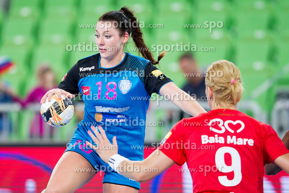 Nina Zulic of RK Krim Mercator during handball match between RK Krim Mercator (SLO) and HCM Baia Mare (ROM) in 1st Round of Women's EHF Champions League 2015/16, on October 16, 2015 in Arena Stozice, Ljubljana, Slovenia. Photo by Urban Urbanc / Sportida