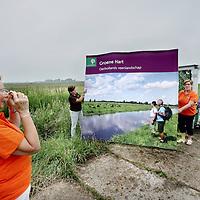 Nederland, Reeuwijk , 15 juli 2014.<br /> PR mensen van  Het Groene Hart.<br /> Op de foto vrijwilligers: Ada van den Bosch, Ineke Zondervan en Marry van den Haak<br /> Foto:Jean-Pierre Jans