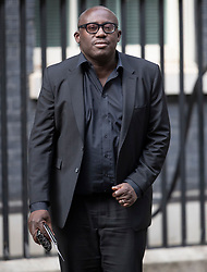© Licensed to London News Pictures. 18/09/2018. London, UK. UK Vogue editor Edward Enninful arrives in Downing Street to attend a  Fashion Week reception hosted by Prime Minister Theresa May. Photo credit: Peter Macdiarmid/LNP