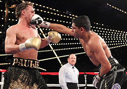 May 15, 2010: New York, NY; USA;  Amir Khan and Paulie Malignaggi fight on HBO's Boxing after Dark at the Theatre at Madison Square Garden.  Khan stopped Malignaggi in the eleventh round.