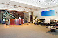 Spacious office lobby