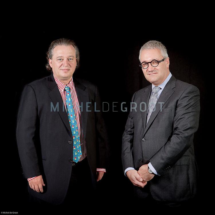 Gilbert van Hassel, ING Investment Management en Roderick Munsters, directeur van Robeco.