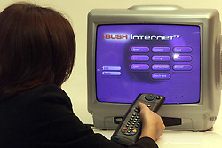BUSH INTERNET TV LAUNCHED TODAY, March 3, 2000. Photo by Andrew Parsons / i-images..
