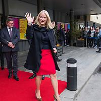 Oslo  20170425.<br /> Kronprinsesse Mette-Marit &aring;pnet tirsdag Barnefilmfestivalen i Kristiansand.<br /> Foto: Tor Erik Schr&oslash;der / NTB scanpix