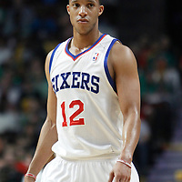 17 March 2012: Philadelphia Sixers shooting guard Evan Turner (12) is seen during the Chicago Bulls 89-80 victory over the Philadelphia Sixers at the United Center, Chicago, Illinois, USA.