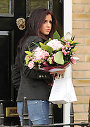 26.OCTOBER.2011. ESSEX<br /> <br /> THE ONLY WAY IS ESSEX STAR LUCY MECKLENBURGH ARRIVING OUTSIDE FELLOW CAST MEMBERS BILLIE FAIERS AND SAM FAIERS HOME WITH A BOUQUET OF FLOWERS IN ESSEX<br /> <br /> BYLINE: EDBIMAGEARCHIVE.COM<br /> <br /> *THIS IMAGE IS STRICTLY FOR UK NEWSPAPERS AND MAGAZINES ONLY*<br /> *FOR WORLD WIDE SALES AND WEB USE PLEASE CONTACT EDBIMAGEARCHIVE - 0208 954 5968*