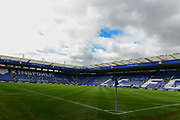 Leicester pitch during the Premier League match between Leicester City and Stoke City at the King Power Stadium, Leicester, England on 1 April 2017. Photo by Jon Hobley.