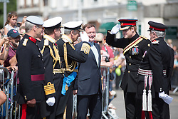 "@Licensed to London News Pictures 04/08/2014.Folkestone, Kent, UK. His Royal Highness Prince Harry attends the ""Step Short"" commemorative event in Folkestone by unveiling the Memorial Arch to mark the centenary of the First World War today on 4th August, 2014. Photo credit: Manu Palomeque/LNP"