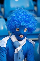 MANCHESTER, ENGLAND - Sunday, January 22, 2011: A Manchester City supporter during the Premiership match against Tottenham Hotspur at the City of Manchester Stadium. (Pic by David Rawcliffe/Propaganda)
