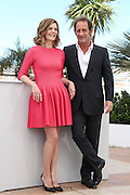 Chiara Mastroianni  & Vincent Lindon attends the 'Les Salauds' Photocall during the 66th Annual Cannes Film Festival at the Palais des festivals on May 22, 2013 in Cannes, France