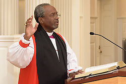 Rt. Rev. Michael B. Curry. A Service of Evensong Together with the Conferral of Honorary Degrees. 20 October 2015. Berkeley Divinity School at Yale University.