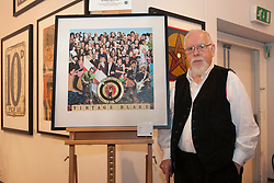 "© licensed to London News Pictures. London, UK 20/06/2012. Sir Peter Blake launches the sale of his charity print ""Vintage Blake"" at his latest exhibition at The Mall Galleries, showing works of the last six decades of his career to celebrate his 80th birthday celebrations at this year's Vintage Festival. Photo credit: Tolga Akmen/LNP"