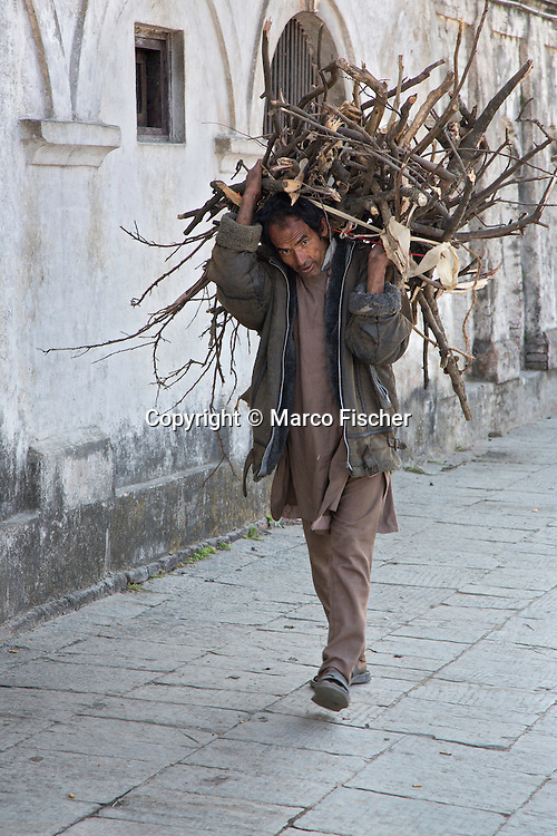 Man carrying fire wood.