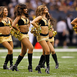 September 9, 2010; New Orleans, LA, USA;  New Orleans Saints Saintsations cheerleaders perform during first half of the NFL Kickoff season opener at the Louisiana Superdome. Mandatory Credit: Derick E. Hingle-US PRESSWIRE