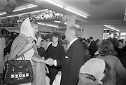 08/07/1965<br /> 07/08/1965<br /> 08 July 1965<br /> Stork Girl at the opening of Powers Supermarket Ballyfermot, Dublin