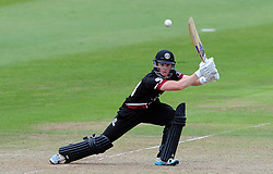 Somerset's Tom Abell cuts the ball. - Photo mandatory by-line: Harry Trump/JMP - Mobile: 07966 386802 - 29/07/15 - SPORT - CRICKET - Somerset v Durham - Royal London One Day Cup - The County Ground, Taunton, England.