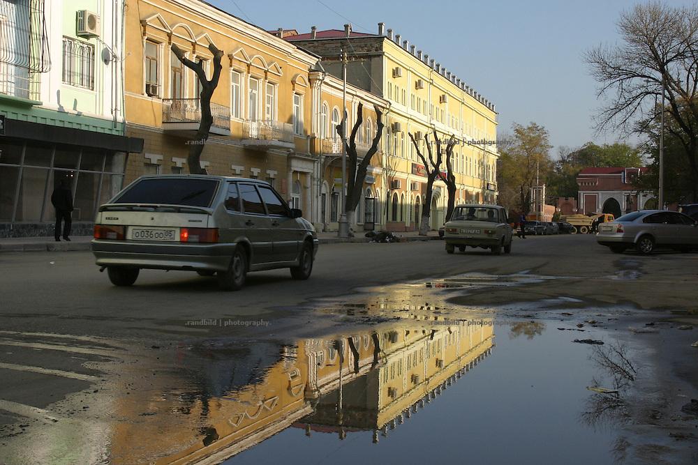 Die Innenstadt von Machatschkala, Dagestan. Downtown Makhachkala, Dagestan.