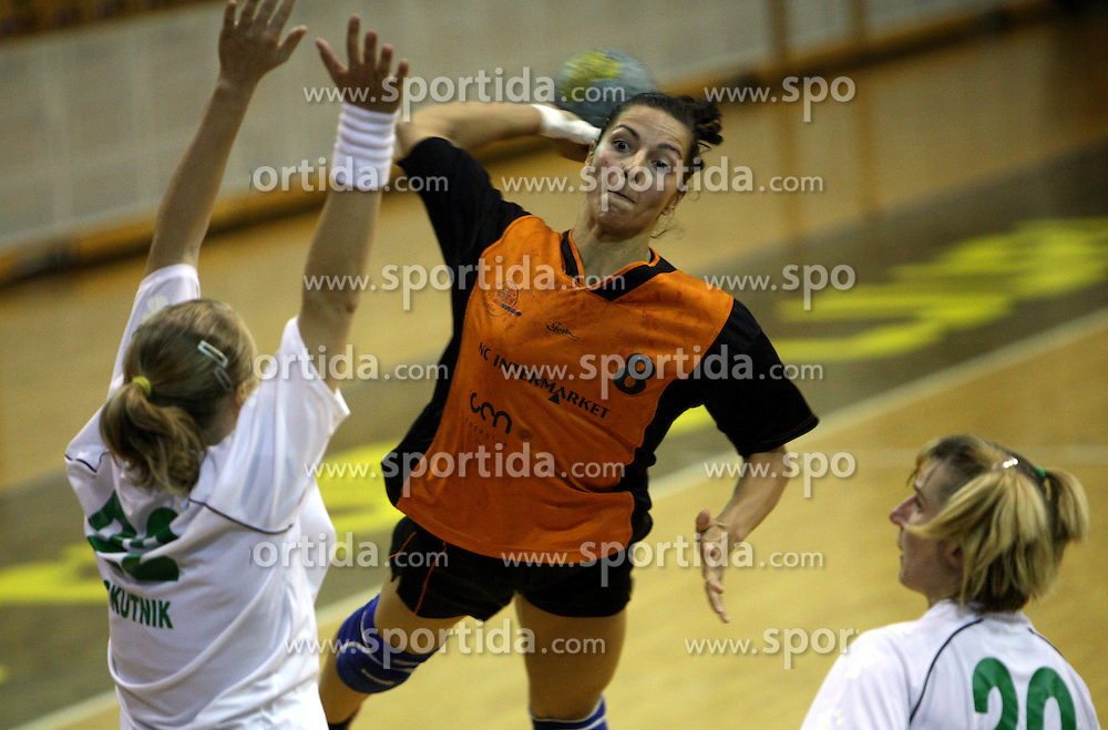 Tana Sutaj of Brezice at  handball game between women team RK Olimpija vs ZRK Brezice at 1st round of National Championship, on September 13, 2008, in Arena Tivoli, Ljubljana, Slovenija. Olimpija won 41:17. (Photo by Vid Ponikvar / Sportal Images)