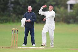 KISLINGBURY BOWLER M. KHAMN,  AFTER GAME RESTARTS AFTER HEAVY RAIN, Wellingborough Old Grammarians v  Kislingbury Cricket Club, Saturday 3rd September 2016