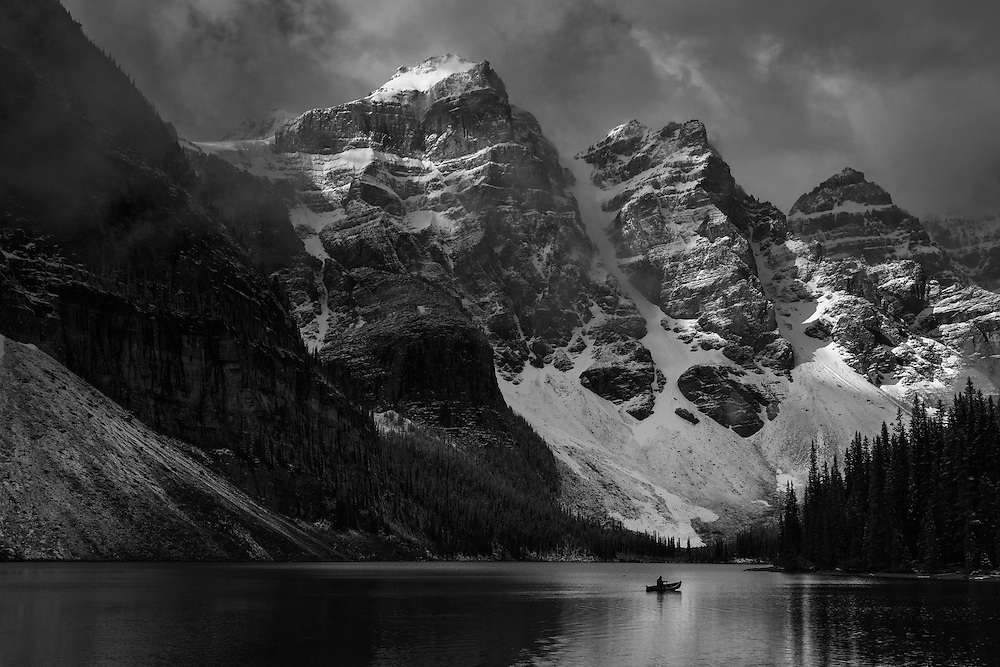 """Greater Than I"" Moraine Lake, Banff National Park."