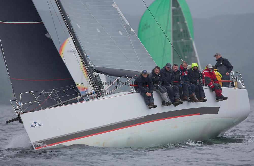 Silvers Marine Scottish Series 2017<br /> Tarbert Loch Fyne - Sailing<br /> <br /> FRA35439, Inis Mhor, M Findlay, CCC, Ker 39<br /> <br /> Credit: Marc Turner / CCC