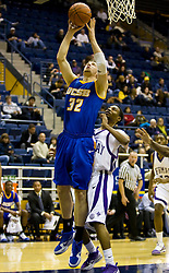 December 28, 2009; Berkeley, CA, USA;  UC Santa Barbara Gauchos forward Jon Pastorek (32) shoots against the Furman Paladins during the second half at the Haas Pavilion.  UC Santa Barbara defeated Furman 72-60.