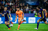 MARIBOR, SLOVENIA - OCTOBER 17: Mitja Viler of NK Maribor vs Alex Oxlade-Chamberlain of Liverpool FC during UEFA Champions League 2017/18 group E match between NK Maribor and Liverpool FC at Stadium Ljudski vrt, on October 17, 2017 in Maribor, Slovenia. (Photo by Vid Ponikvar / Sportida)
