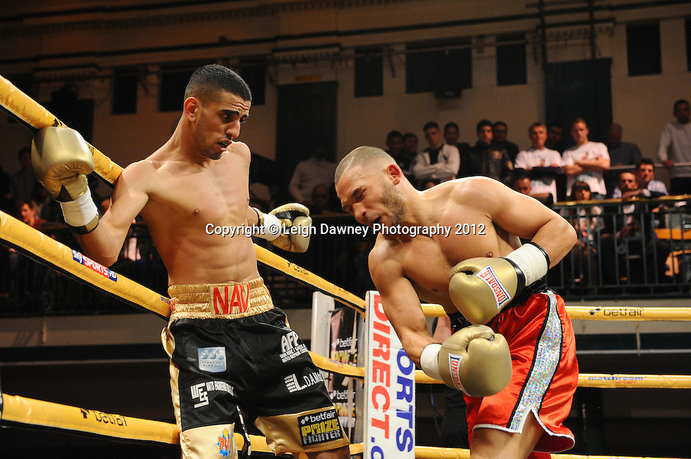 Navid Mansouri defeats Curtis Valentine in Quarter Final Four, Prizefighter at York Hall, Bethnal Green, London on the 1st November 2012. Frank Warren Promotions. © Leigh Dawney Photography 2012.