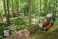 Enduro bicycle race at the 2014 Marquette Trails Festival at Marquette Mountain Ski Area in Marquette, Michigan.  The event showcases the trails of the Noquemanon Trail Network.