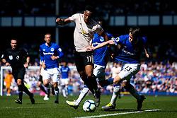 Anthony Martial of Manchester United takes on Seamus Coleman of Everton - Mandatory by-line: Robbie Stephenson/JMP - 21/04/2019 - FOOTBALL - Goodison Park - Liverpool, England - Everton v Manchester United - Premier League