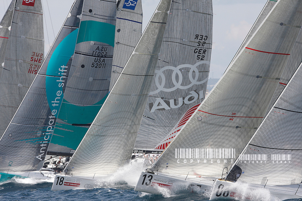 AUDI MED CUP-TP 52 SERIES-MARSEILLE.COPYRIGHT : THIERRY SERAY/DPPI..START