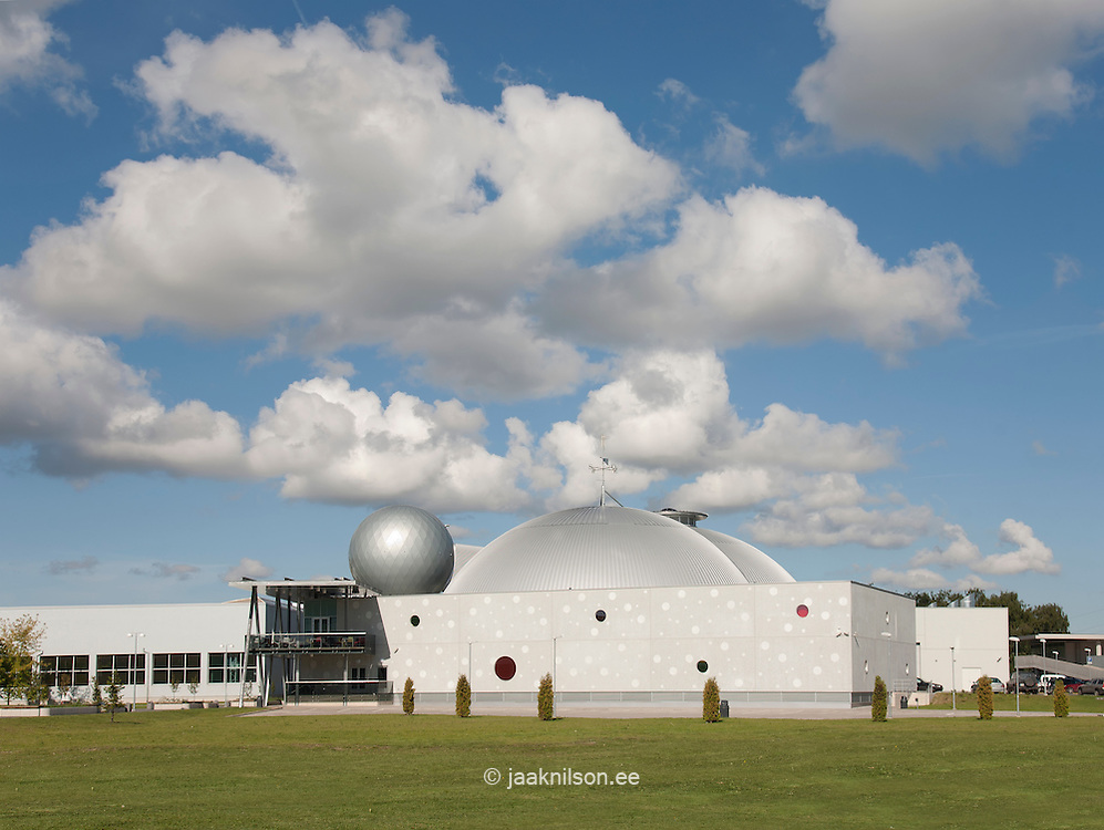 Modern building of Ahhaa science center in Tartu, Estonia. Architecture.
