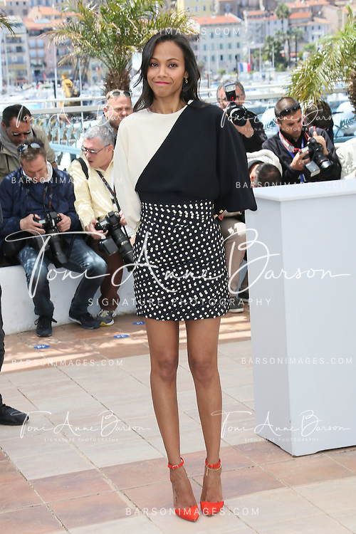 CANNES, FRANCE - MAY 20:  Zoe Saldana attends the photocall for 'Blood Ties' during the 66th Annual Cannes Film Festival at the Palais des Festivals on May 20, 2013 in Cannes, France.  (Photo by Tony Barson/FilmMagic)